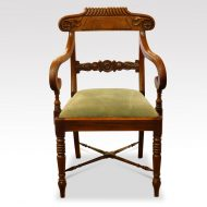 Set of 8 William IV mahogany dining chairs armchair