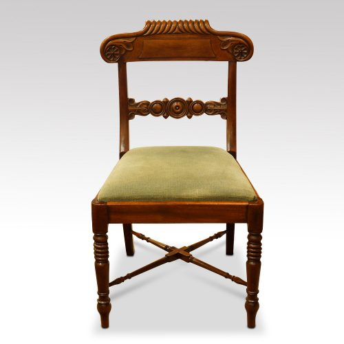 Set of 8 William IV mahogany dining chairs detail