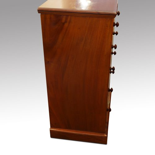 Victorian Heal & Co. mahogany flight of drawers side