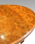 Victorian burr walnut coffee table detail top