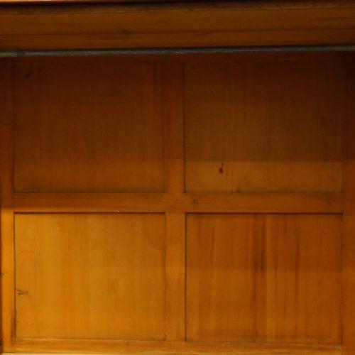 Victorian mahogany press wardrobe backboards