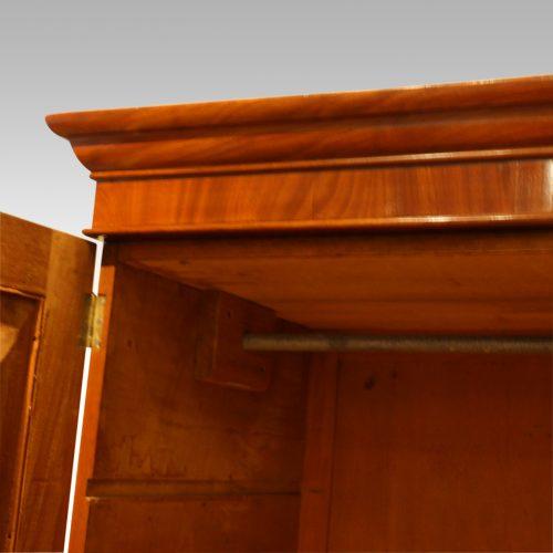 Victorian mahogany press wardrobe cornice