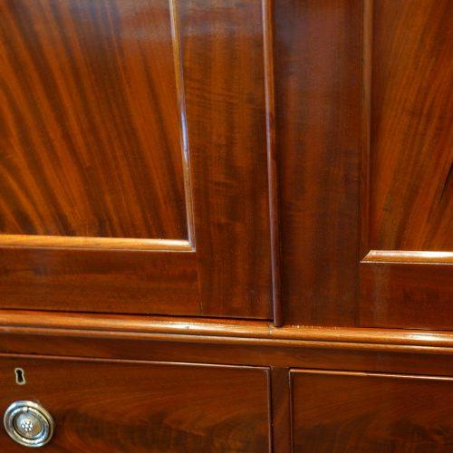 Victorian mahogany press wardrobe door divider