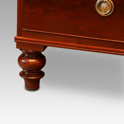 Victorian mahogany press wardrobe foot