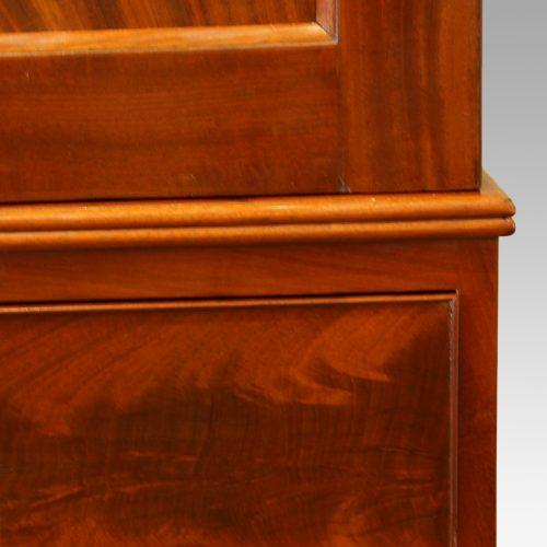 Victorian mahogany press wardrobe moulding