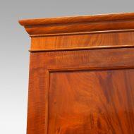 Victorian mahogany press wardrobe pediment