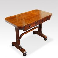 William IV rosewood small library table at angle