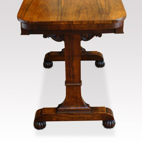 William IV rosewood small library table end