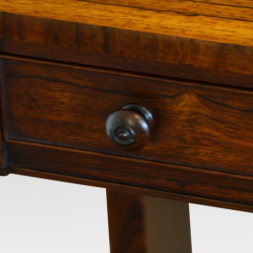 William IV rosewood small library table knob handle