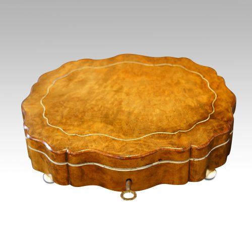 Antique French shaped walnut box