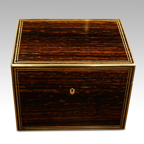 Antique coromandel fitted box