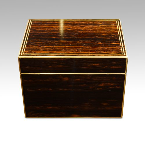 Antique coromandel fitted box rear