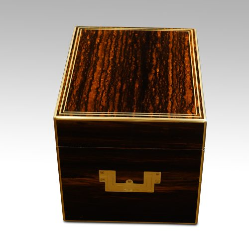 Antique coromandel fitted box side view