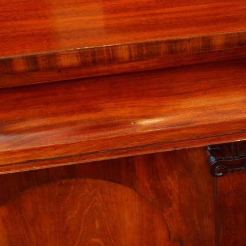 Antique mahogany chiffonier sideboard concave drawer front
