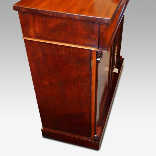 Antique mahogany chiffonier sideboard side view