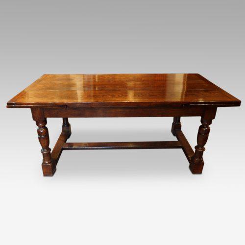 Custom made oak refectory dining table