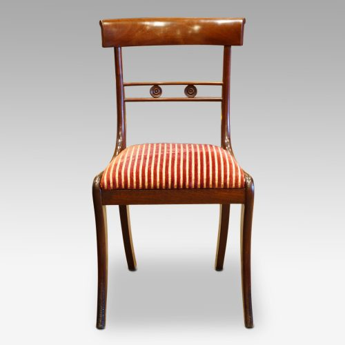 Set of 4 Regency mahogany dining chairs, side chair