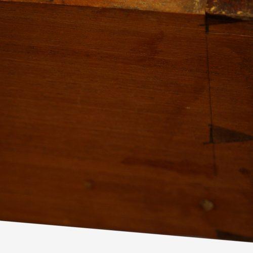 Edwardian inlaid mahogany pedestal desk dovetails