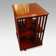 Edwardian mahogany bookcase revolving