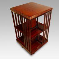 Edwardian mahogany bookcase revolving top
