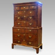 George I walnut chest on chest,1