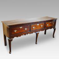 George III oak cross banded dresser base