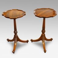 Pair of Edwardian mahogany wine tables