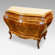 Pair of Italian commodes angle view