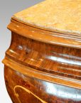 Pair of Italian commodes concave moulding