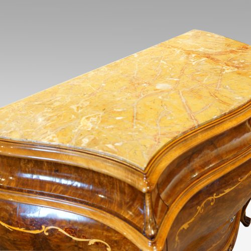 Pair of Italian commodes marble top