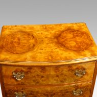 Pair of walnut small chests top