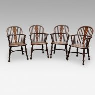 Set of 4 Yew wood Windsor chairs