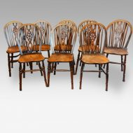 Set of 8 antique Windsor chairs