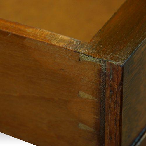 Victorian oak double pedestal desk dovetail