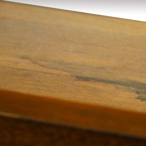 Victorian oak double pedestal desk drawer lining