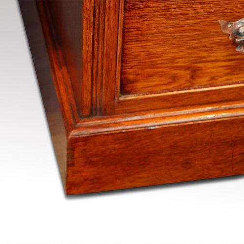 Victorian oak double pedestal desk plinth