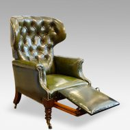 William IV leather reclining patent chair