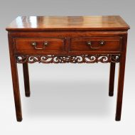 Chinese hardwood sidetable