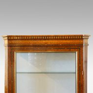 Continental amboyna inlaid display cabinet top