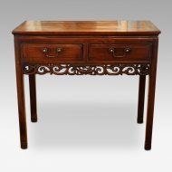 Chinese hardwood sidetable front