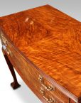 1930's walnut table canteen of cutlery drawers closed top detail top view