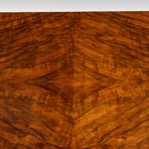 1930's walnut table canteen of cutlery drawers closed top detail