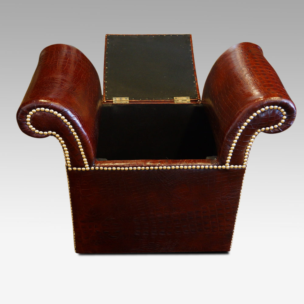 Super Edwardian Simulated Crocodile Leather Dressing Stool Creativecarmelina Interior Chair Design Creativecarmelinacom