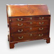George III mahogany bureau front