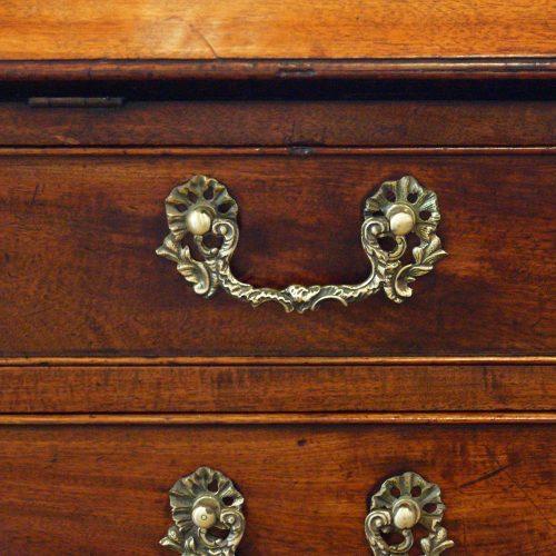 George III mahogany bureau handle