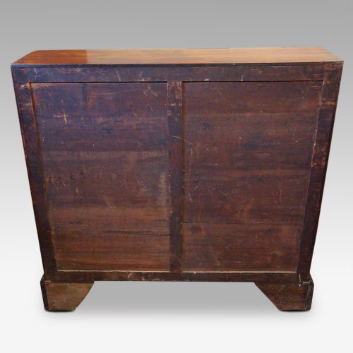 George III mahogany bureau rear