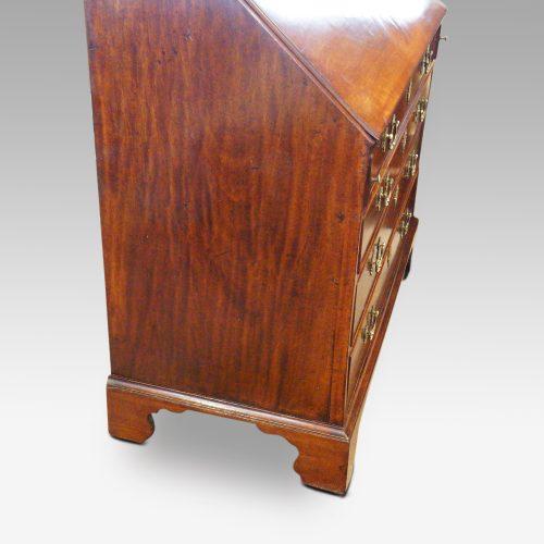 George III mahogany bureau side