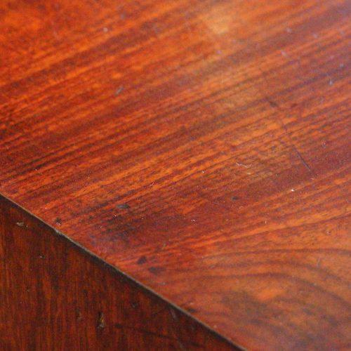 George III mahogany bureau top