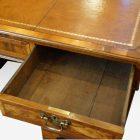 Georgian style walnut pedestal desk oak drawer linings