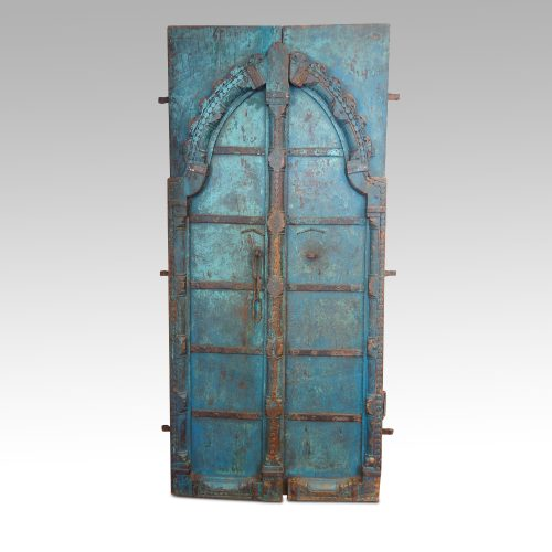 Indian carved teak doors with original paint front